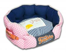 Touchdog Polka-Striped Polo Rounded Fashion Dog Bed
