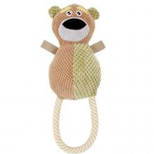 Huggabear Natural Jute Dog Squeak Toy