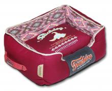 Touchdog 70's Vintage-Tribal Throwback Diamond Patterned Ultra-Plush Rectangular-Boxed Dog Bed