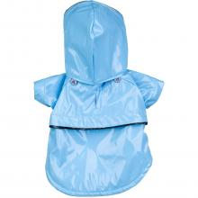 Baby Blue Pvc Waterproof Adjustable Pet Raincoat