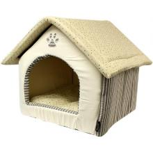 Almond Plush Dog House - pet bed