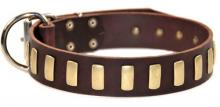 Plated Perfection Leather Collar