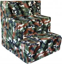 Green Camo Plush - pet stairs