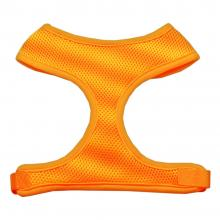 orange mesh dog harness