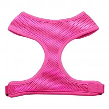 pink mesh dog harness