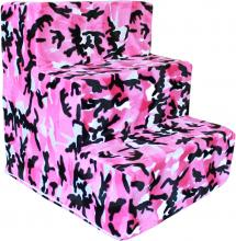 Pink Camo Plush - pet stairs