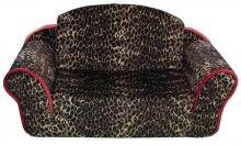 Leopard Pull Out Sleeper Sofa Pet Bed