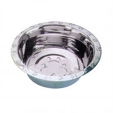 Embossed Rim Stainless Steel Dog Bowl