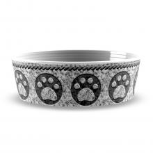 Granite Paw Print Pet Bowl
