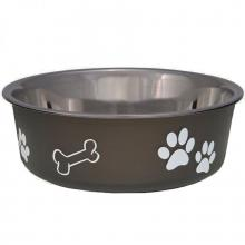 Bella Bowl stainless steel rubber bottom dog food bowl