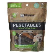 Pegetables Medium Dog Chews Sweet Potato Carrot and Pea