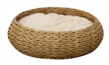 Woven Basket Pet Bed with Pillow