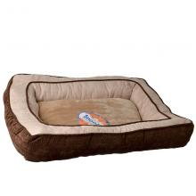Snoozzy Chevron Chenille Gusset - rectangle dog bed